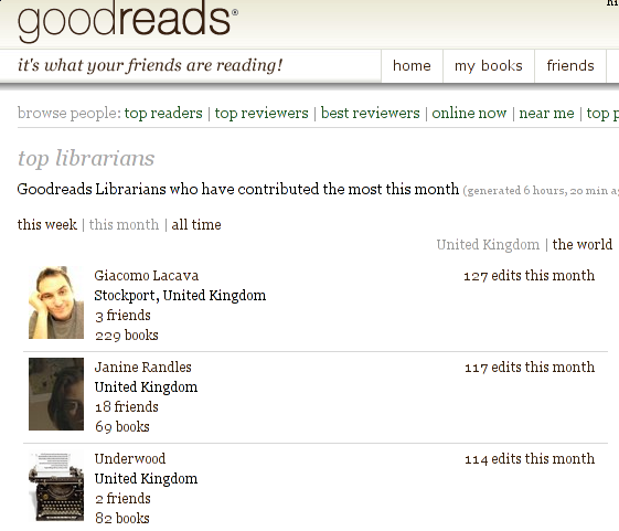 what is a goodreads librarian